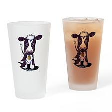 Holstein Cow Drinking Glass