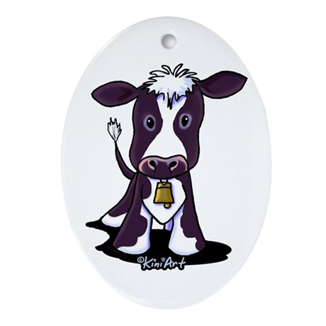 Holstein Cow Ornament (Oval)
