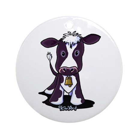 Holstein Cow Ornament (Round)