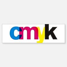 CMYK Bumper Bumper Bumper Sticker