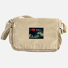 I Love Wolves Messenger Bag