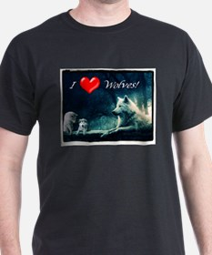I Love Wolves T-Shirt
