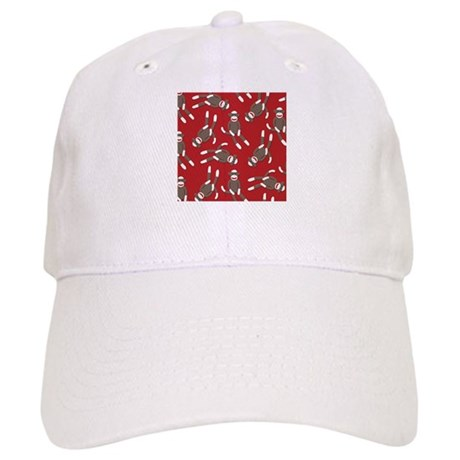 Red Sock Monkey Print Cap
