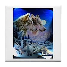 Wolf Family Tile Coaster