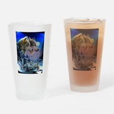 Wolf Family Drinking Glass