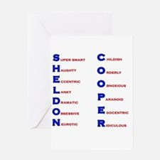 Sheldon Cooper Adjectives Greeting Card