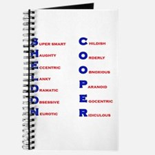 Sheldon Cooper Adjectives Journal