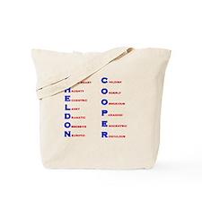 Sheldon Cooper Adjectives Tote Bag