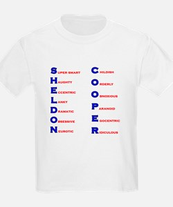 Sheldon Cooper Adjectives T-Shirt