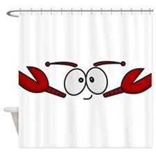 Lobster Face Shower Curtain