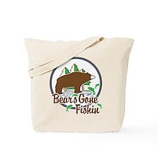 Bear's Gone Fishn' Tote Bag
