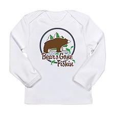 Bear's Gone Fishn' Long Sleeve Infant T-Shirt