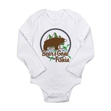 Bear's Gone Fishn' Long Sleeve Infant Bodysuit