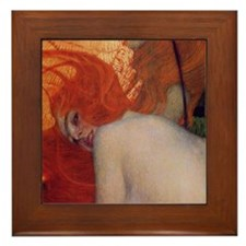 The Gold Fish by Gustav Klimt Framed Tile
