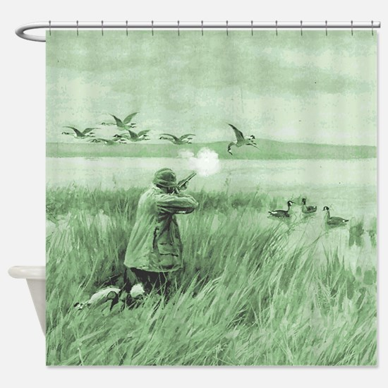 Hunting Wild Geese Shower Curtain
