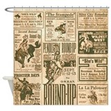 Bucking horse Shower Curtains