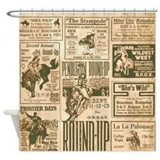 Vintage Rodeo Round-Up Shower Curtain