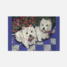 WESTIE SUMMER BREEZE Rectangle Magnet