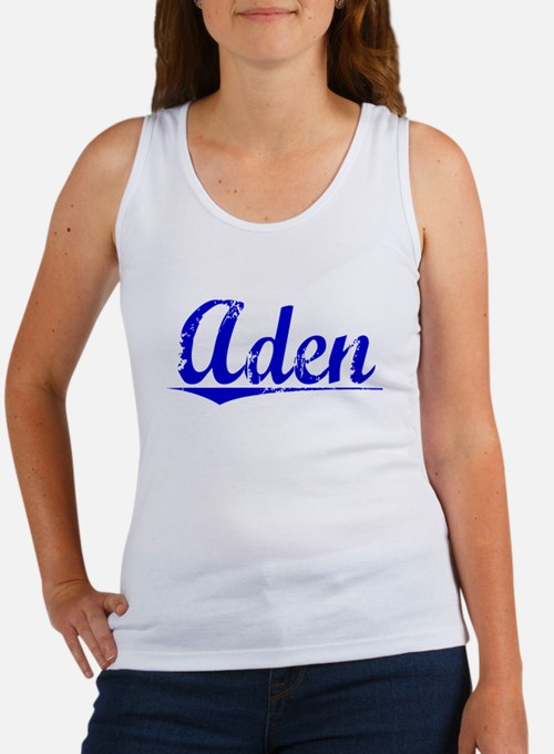 Aden, Blue, Aged Women's Tank Top