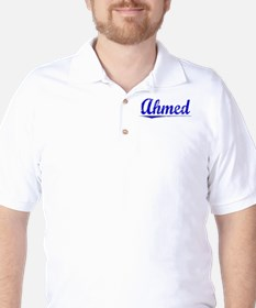 Ahmed, Blue, Aged T-Shirt