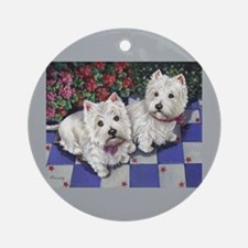WESTIE SUMMER BREEZE Ornament (Round)