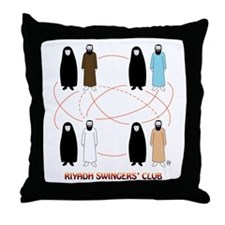 Riyadh Swingers' Club Throw Pillow