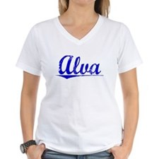 Alva, Blue, Aged Shirt