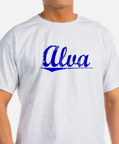 Alva, Blue, Aged T-Shirt
