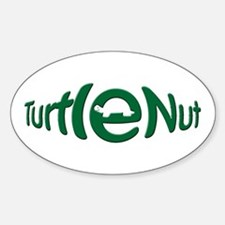 3x5 Turtle Nut Oval Decal