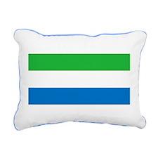 Flag of Sierre Leone Rectangular Canvas Pillow
