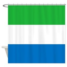 Flag Of Sierre Leone Shower Curtain
