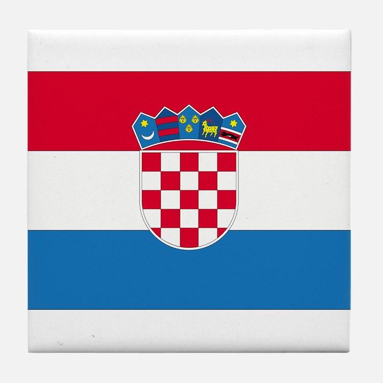 Croatia Tile Coaster