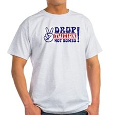 DROP TUITION Not Bombs! Ash Grey T-Shirt