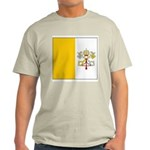 Vatican City Blank Flag Ash Grey T-Shirt