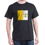 Vatican City Blank Flag Black T-Shirt