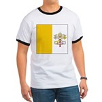 Vatican City Blank Flag Ringer T