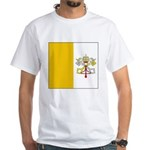 Vatican City Blank Flag White T-Shirt