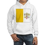 Vatican City Blank Flag Hooded Sweatshirt