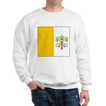 Vatican City Blank Flag Sweatshirt