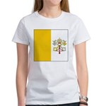 Vatican City Blank Flag Women's T-Shirt