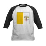 Vatican City Blank Flag Kids Baseball Jersey
