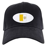 Vatican City Blank Flag Black Cap