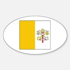 Vatican City Blank Flag Oval Decal