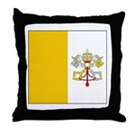 Vatican City Blank Flag Throw Pillow