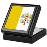 Vatican City Blank Flag Keepsake Box