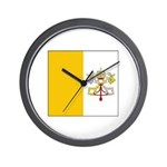 Vatican City Blank Flag Wall Clock