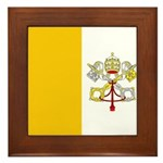 Vatican City Blank Flag Framed Tile