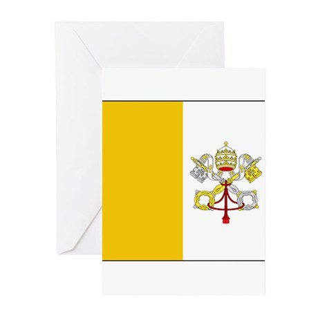 Vatican City Blank Flag Greeting Cards (Package of