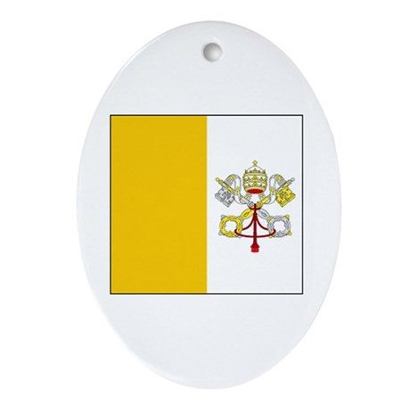 Vatican City Blank Flag Oval Ornament