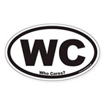 Who Cares? WC Euro Oval Sticker